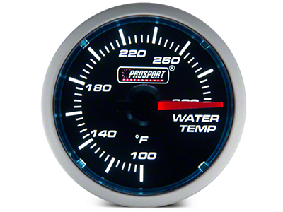 Dual Color Water Temp Gauge - Electric, Blue/White (79-17 All)