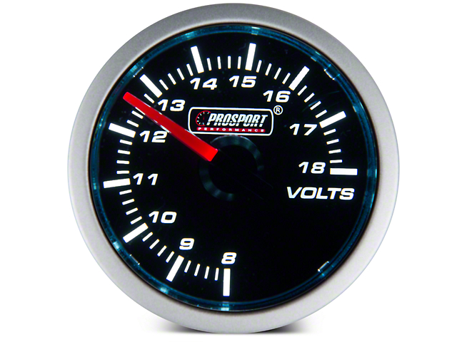 Prosport 52mm Performance Series Volt Gauge; Electrical; Blue/White (Universal Fitment)