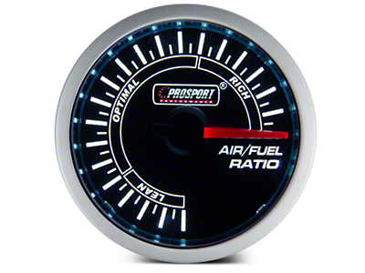 Dual Color Air/Fuel Ratio Gauge - Blue/White (79-18 All)