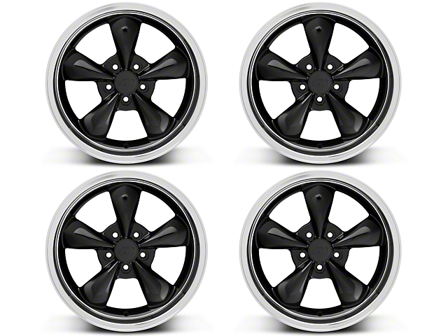Deep Dish Bullitt Black Wheel - 18x9 Wheel Kit (94-04 All)