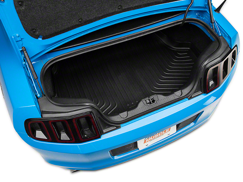 Husky WeatherBeater Trunk Liner; Black (10-14 Coupe w/o Shaker 1000)