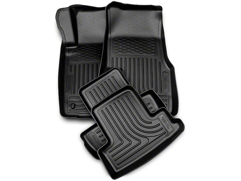 Husky WeatherBeater Front & Rear Floor Liners - Black (10-14 All)