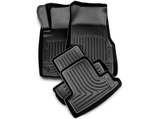 Husky WeatherBeater Front and Second Seat Floor Liners; Black (10-14 All)