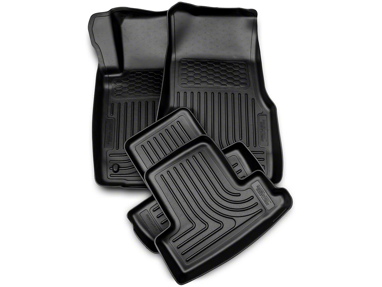 Husky WeatherBeater Front & Rear Floor Liners - Black (10-14 All)