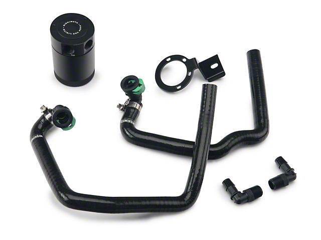Mishimoto Direct Fit Baffled Oil Separator System - Black Silicone Hoses (15-17 EcoBoost)