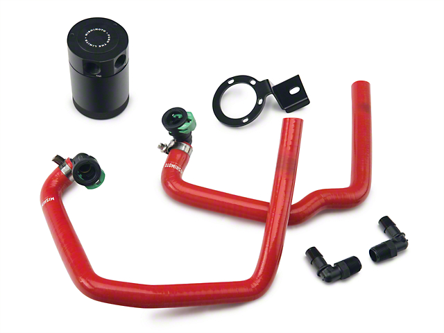 Mishimoto Direct Fit Baffled Oil Separator System - Red Silicone Hoses (15-17 EcoBoost)