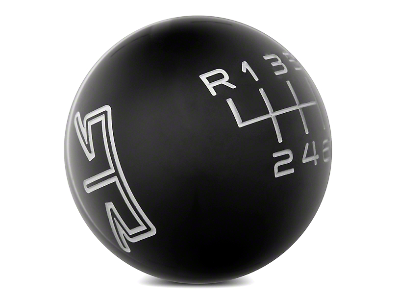 RTR 6-Speed Shift Knob; Black/Gray (11-14 GT, V6)