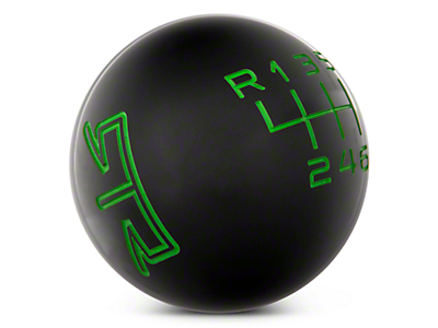 RTR Black Shift Knob - Green Engraving (11-14 GT, V6)