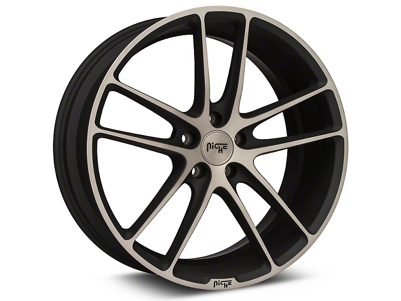 Niche Enyo Black Machined Wheel - 20x8.5 (15-17 All)