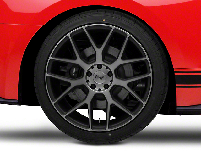 Niche Intake Black Machined Wheel - 20x10 - Rear Only (15-19 All)