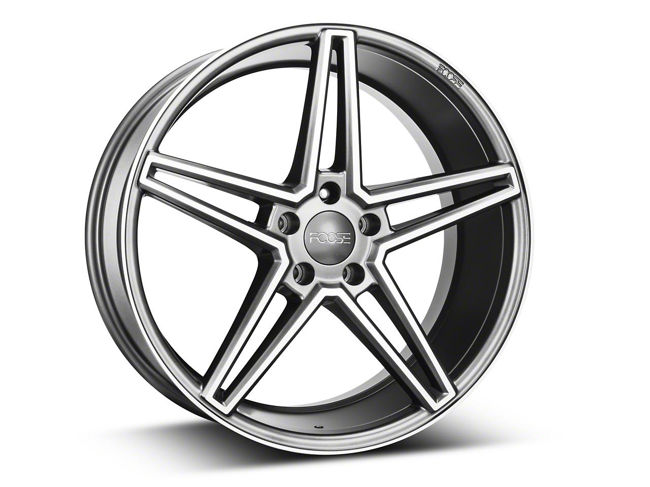 Foose Sport Charcoal Wheel - 20x9 (15-19 GT, EcoBoost, V6)