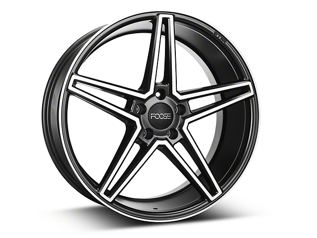 Foose Voss Black Machined Wheel - 20x9 (15-17 All)