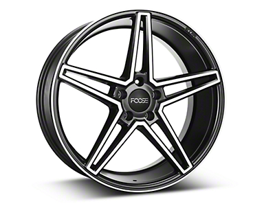 Foose Voss Black Machined Wheel - 20x9 (15-18 GT, EcoBoost, V6)