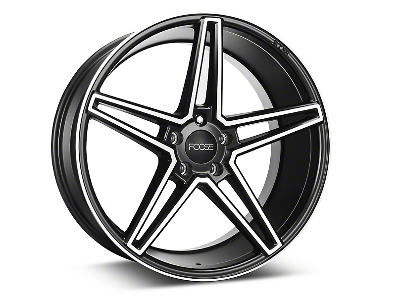 Foose Voss Black Machined Wheel - 20x10 (15-17 All)