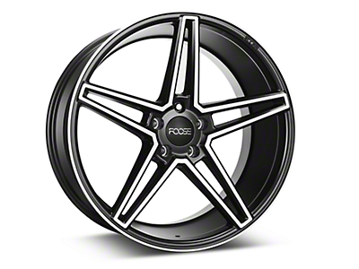 Foose Voss Black Machined Wheel - 20x10 (15-18 GT, EcoBoost, V6)