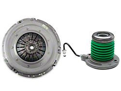 Exedy Mach 400 Stage 1 Organic Clutch Kit w/ Hydraulic Throwout Bearing; 10 Spline (05-10 GT)