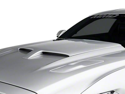 MMD by FOOSE Pre-Painted Hood Scoop - Ingot Silver Metallic (15-17 GT, EcoBoost, V6)