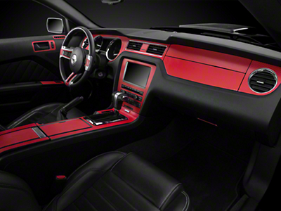 American Muscle Graphics Red Carbon Fiber Dash Kit (10-14 All)