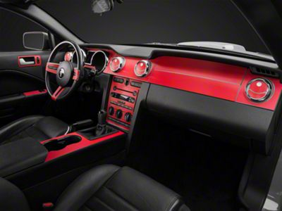 American Muscle Graphics Red Carbon Fiber Dash Kit (05-09 All)