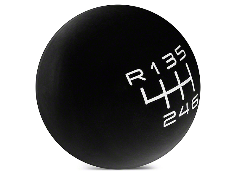 Modern Billet Retro Style 6-Speed Shift Knob - Black (15-18 GT, EcoBoost, V6)
