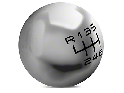 Modern Billet Retro Style 6-Speed Shift Knob - Polished (15-18 GT, EcoBoost, V6)