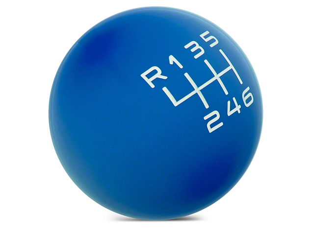 Modern Billet Retro Style 6-Speed Shift Knob; Blue (15-20 GT, EcoBoost, V6)