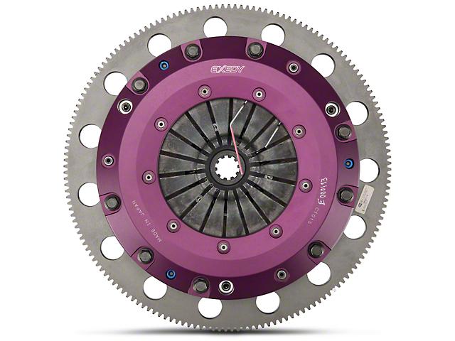Exedy Stage 4 and 5 Hyper Cerametallic Twin Disc Clutch Kit with 8-Bolt Flywheel; 10 Spline (99-Mid 01 GT; 96-04 Cobra, Mach 1)