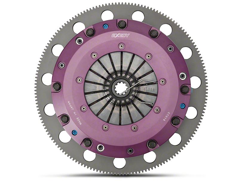 Exedy Hyper Cerametallic Twin Disc Clutch Kit w/ 6-Bolt Flywheel - 10 Spline (96-98 GT; Late 01-10 GT)