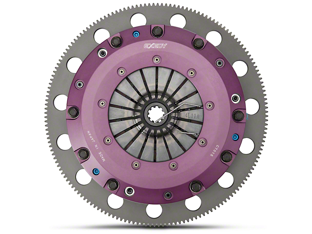 Exedy Hyper Cerametallic Twin Disc Clutch Kit w/ 6-Bolt Flywheel - 10 Spline (96-98 GT; Late 01-10 GT)
