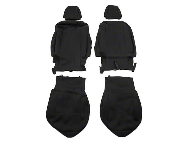 Caltrend Neosupreme Front Seat Covers - Black (15-19 Fastback)