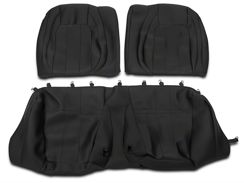 Neosupreme Rear Seat Covers; Black (15-18 Fastback)