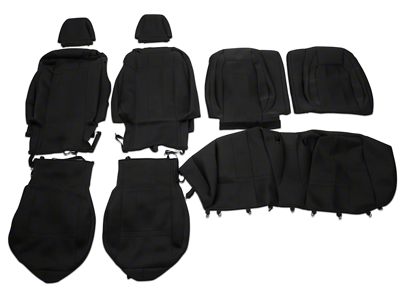 Caltrend Neosupreme Front & Rear Seat Covers - Black (15-17 Fastback)