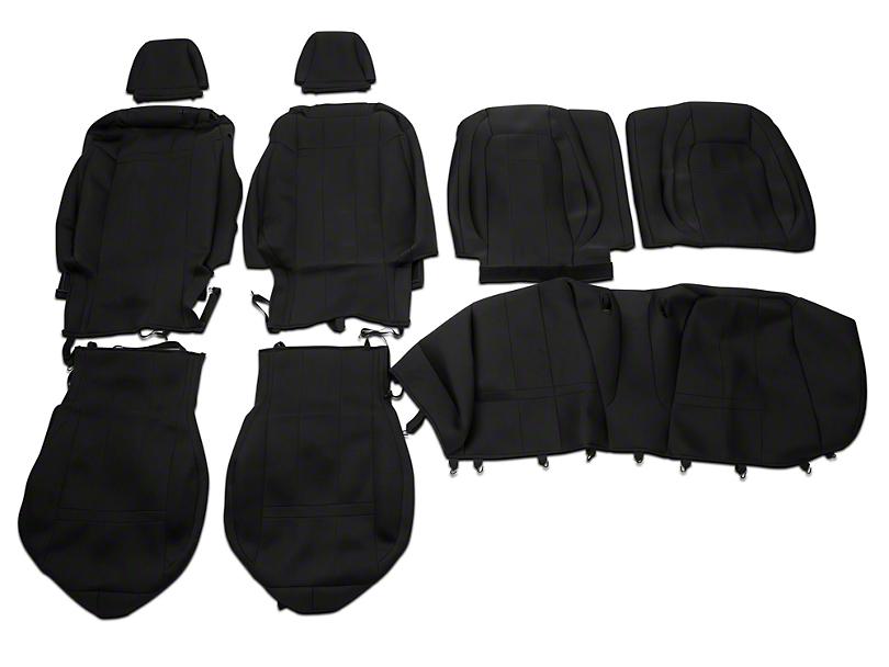 Caltrend Neosupreme Front & Rear Seat Covers - Black (15-18 Fastback)