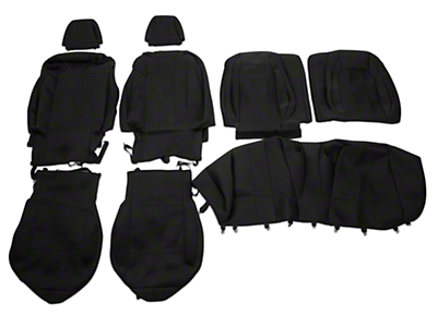 Caltrend Neosupreme Front & Rear Seat Covers - Black (15-18 Fastback)