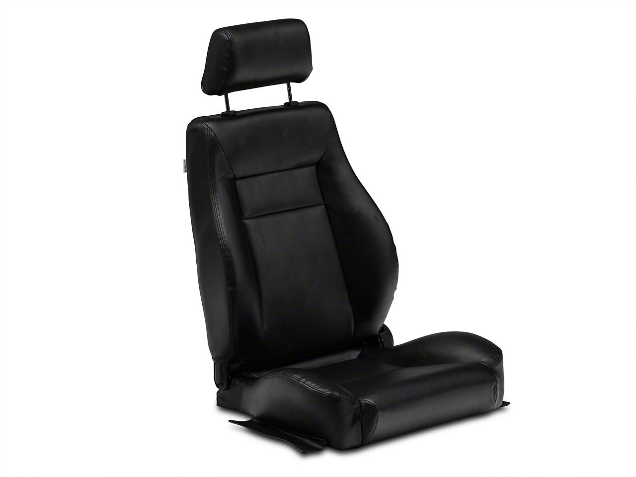 Procar Elite Black Vinyl Reclining Seat - Driver Side (79-14 All)