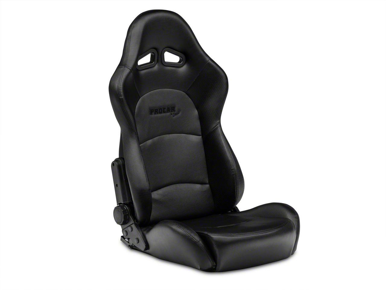 Add Procar Sportsman Pro Black Vinyl Reclining Seat