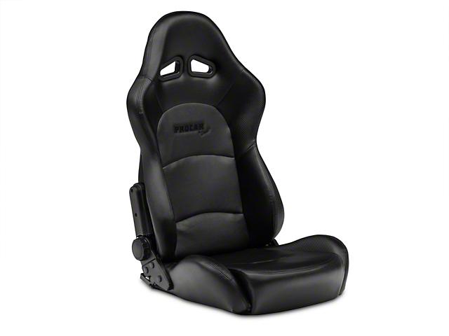 Procar Sportsman Pro Reclining Seat; Black Vinyl (79-14 All)