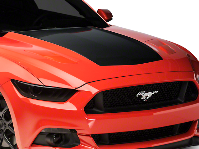 American Muscle Graphics Black Hood Decal (15-17 GT, EcoBoost, V6)