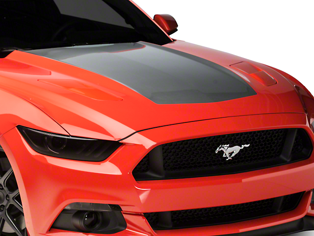 American Muscle Graphics Silver Hood Decal (15-17 All)