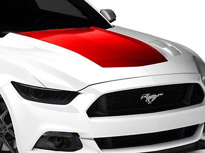American Muscle Graphics Red Hood Decal (15-17 GT, EcoBoost, V6)