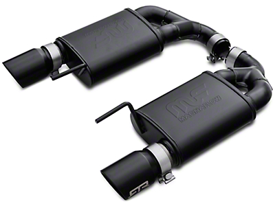RTR Tactical Performance Competition Spec Axle-Back Exhaust w/ Black Tips (15-17 GT)