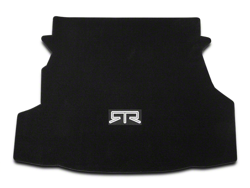RTR Trunk Mat with RTR Logo; Black (10-12 All)