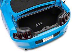 RTR Trunk Mat with RTR Logo; Black (13-14 w/o Shaker Subwoofer)