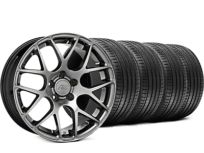 AMR Dark Stainless Wheel & Sumitomo Tire Kit - 18x8 (05-14 All)
