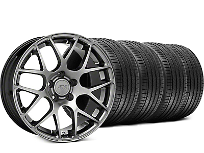 AMR Dark Stainless Wheel & Sumitomo Tire Kit - 18x8 (94-04 All)