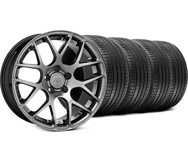 AMR Dark Stainless Wheel & Sumitomo Tire Kit - 18x9 (99-04 All)