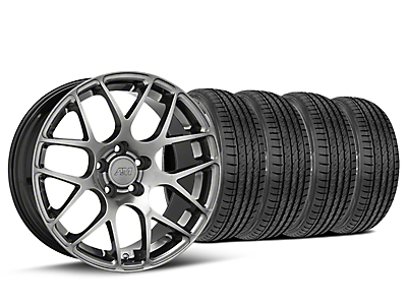 AMR Dark Stainless Wheel & Sumitomo Tire Kit - 19x8.5 (05-14 All)