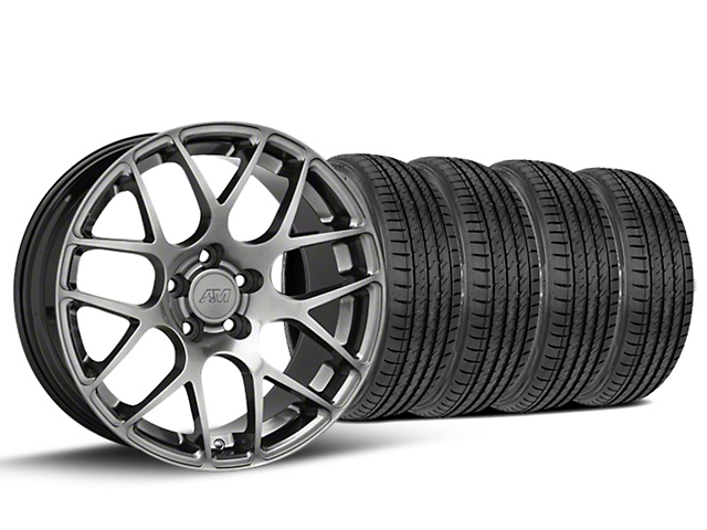 AMR Dark Stainless Wheel & Sumitomo Tire Kit - 19x8.5 (15-17 All)