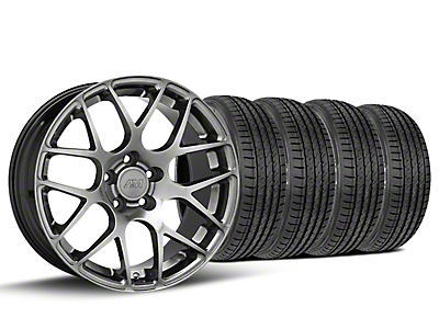 AMR Dark Stainless Wheel & Sumitomo Tire Kit - 19x8.5 (15-18 GT, EcoBoost, V6)