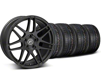 Staggered Forgestar F14 Monoblock Matte Black Wheel & NITTO INVO Tire Kit - 19x9/11 (05-14 All)